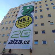 Montáž reklamní plachty  ALZA
